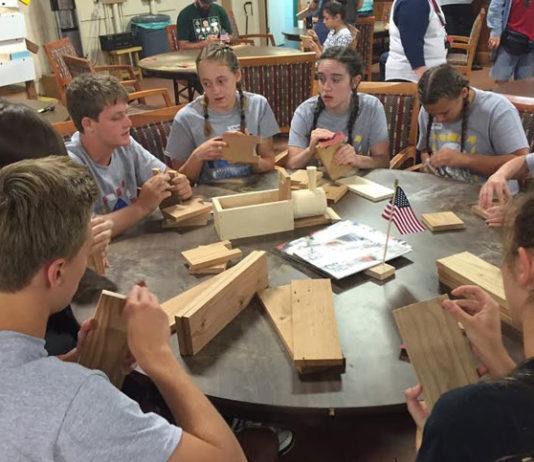 Youth woodworking