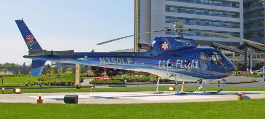 Life Flight helicopter