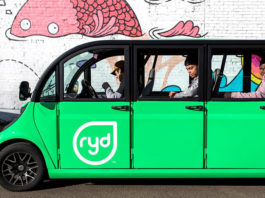 Ryd car with passengers